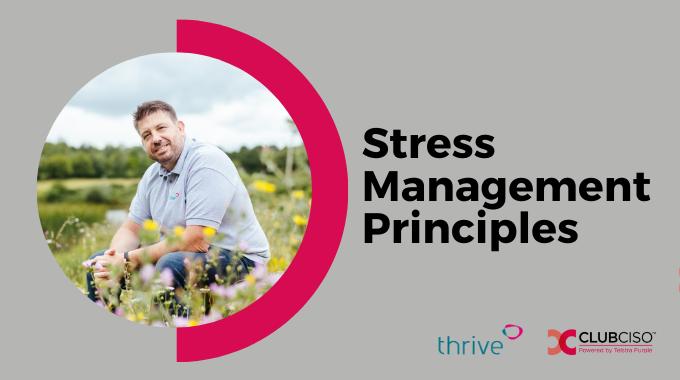 Stress Management Principles